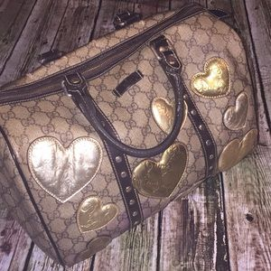 Gucci LE Boston Metallic hearts